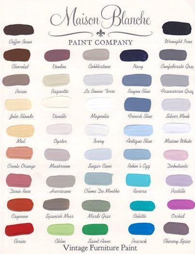Maison Blanche Color Chart